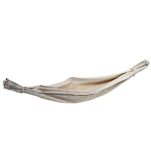 Bananenblatt Weiß gewaschen Naturdeko 66cm