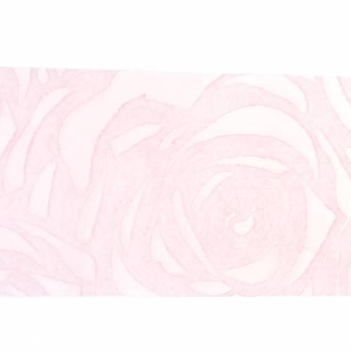 Dekoband Rosen Breit Rosa 63mm 20m
