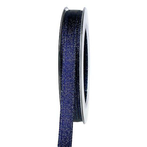 Dekorationsband Dunkelblau mit Glimmer 10mm 20m