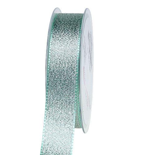 Band zum Dekorieren Mintgrün 25mm 20m