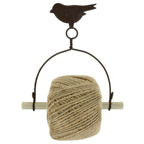 Bandhalter Vogel zum Hängen mit Jute H19cm