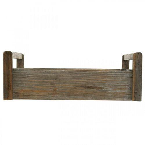 Holzkiste Bastelkiste Shabby Dekokiste Holz 47×28,5×16,5cm