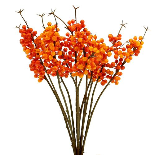 Beerenzweig orange L 30cm 12St