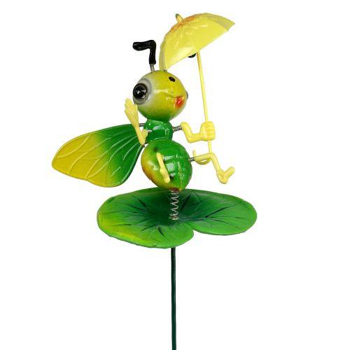 Biene mit Schirm als Gartenstecker 73cm
