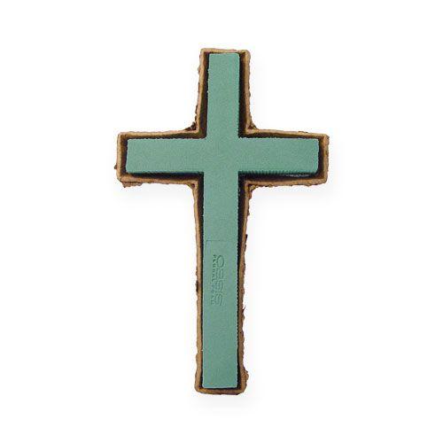 Steckschaum Kreuz klein Grün 42cm 4St Trauerfloristik