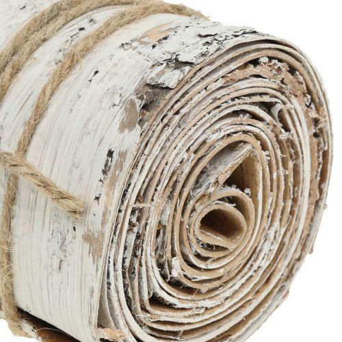 Birkenrinde Rolle Weiß gewaschen 10cm x 2,5m