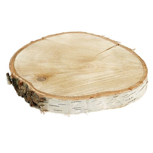 Birkenscheibe natur Ø25cm - 30cm