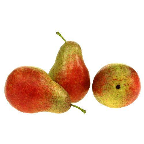 Birne rot, grün 12cm 3 St