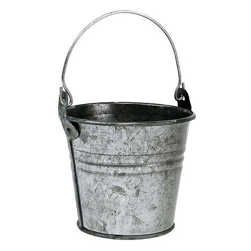 Blech Eimer Silber Ø8cm H7cm 12St