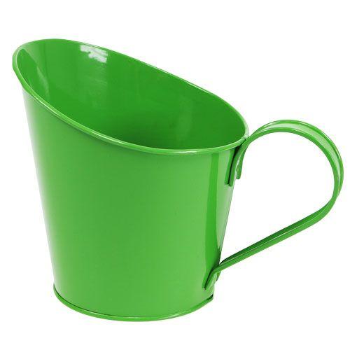 Blechgefäß zum Bepflanzen Grün Ø13cm H15cm