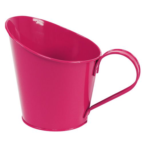 Blechgefäß zum Bepflanzen Pink Ø13cm H10-15cm