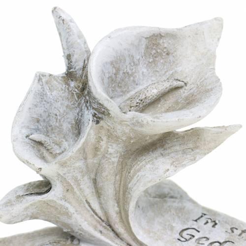 """Grabschmuck Calla-Blüte """"Im stillem Gedenken"""" 10cm x 6cm 4St"""