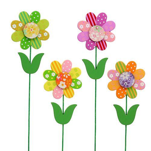 Blume zum Stecken 6,5cm sort.L26cm 12St