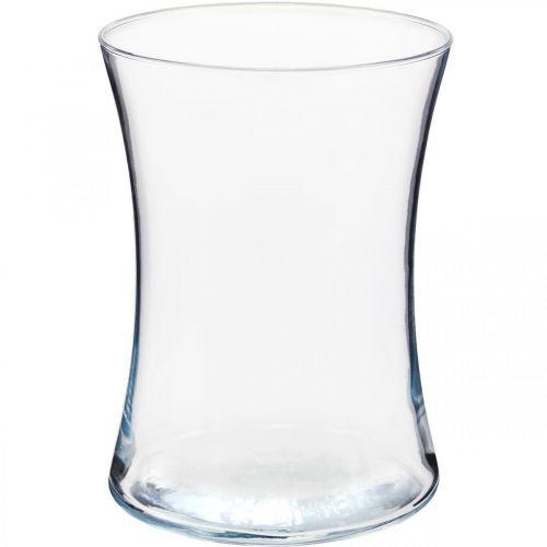 Blumenvase, Glaswindlicht, Vase aus Glas Ø13,5cm H19cm