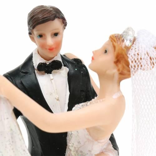Hochzeitsdeko Brautpaar Handbemalt H13cm