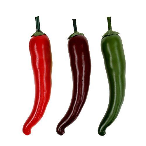 Chilischote 3-farbig sort. 12,5cm 3St
