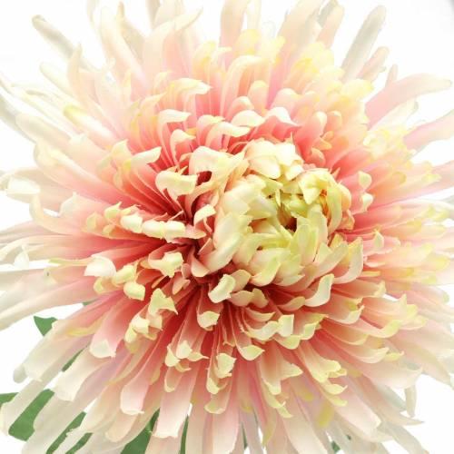 Chrysantheme Blütenzweig Rosa künstlich 64cm