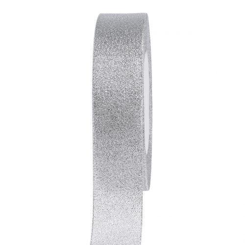 Deko Band Silber 25mm 22,5m