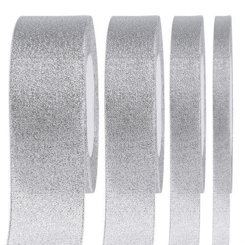 Deko Band Silber verschiedene Breiten 22,5m