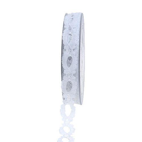 Deko-Band Spitze Weiß 15mm 20m