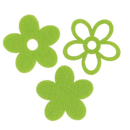 Deko-Blume aus Filz zum Streuen Grün Ø4cm 72St