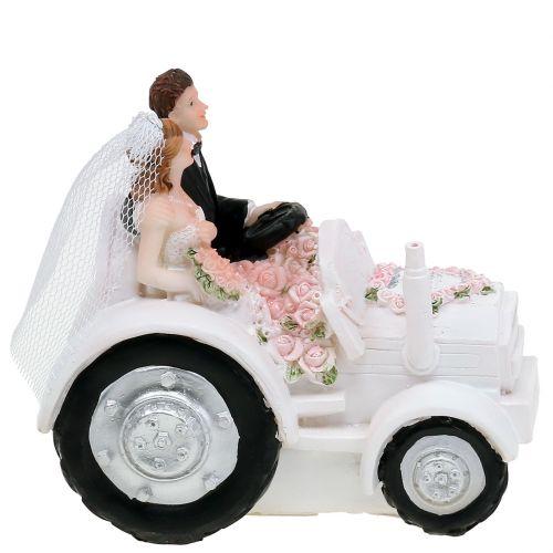 1 Stück Hochzeitsdekoration Deko-Figur Hochzeitspaar im Cabrio