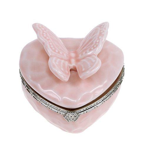 Deko Dose mit Schmetterling Rosa Ø6cm H6cm