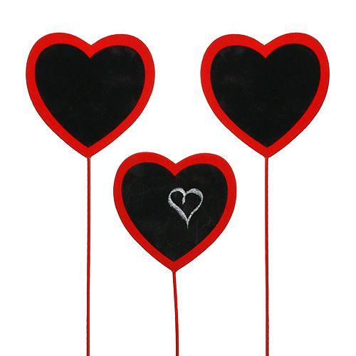Deko-Herz zum Beschriften Rot 9cm x 9cm 12St