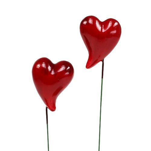 Deko-Herzen zum Stecken Rot 5cm 24St