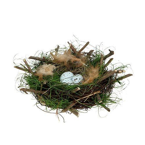 Deko Nest mit Eiern Ø22cm 1St
