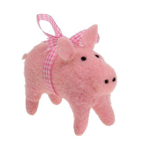 Deko-Schwein Pink 11,5cm 4St