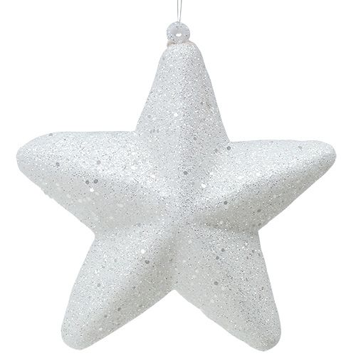 Deko Stern Weiß zum Hängen 20cm