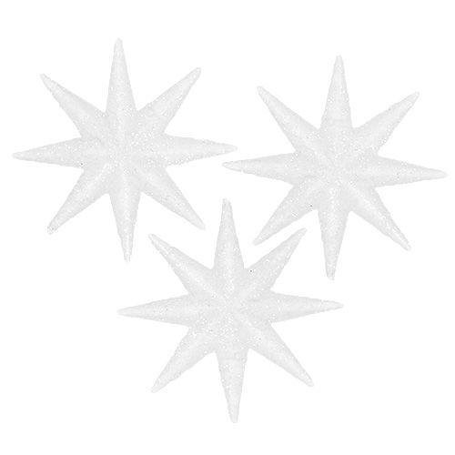 Deko-Sterne Weiß Ø5cm 20St