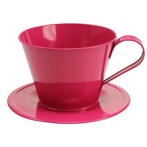 Deko-Tasse Pink Ø16cm H11cm