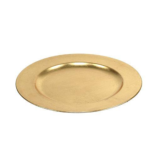Deko Teller Gold O28cm Grosshandel Und Lagerverkauf