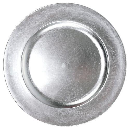 Deko-Teller Silber Ø28cm