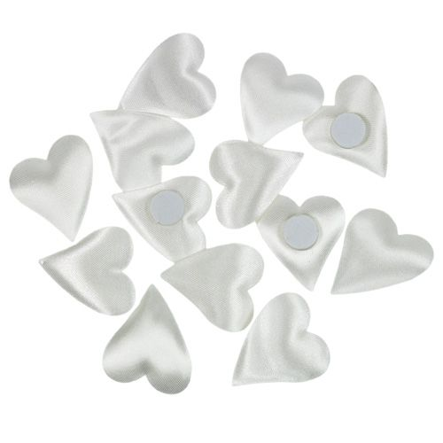 Deko-Herzen mit Klebepunkt Weiß 3cm 100St