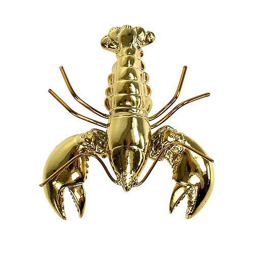 Deko Figur Hummer 8cm Gold