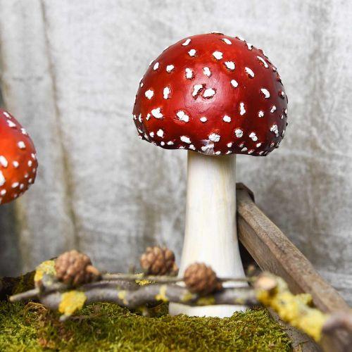 Deko Fliegenpilz Rot, Weiß Herbstdeko Pilz Ø10,5cm H21cm