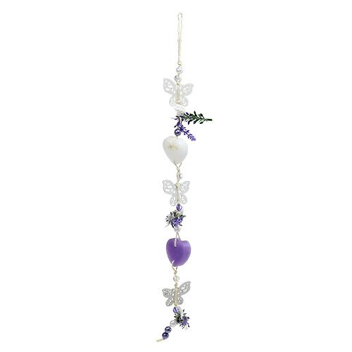 Deko-Hänger L47cm Violett, Weiß