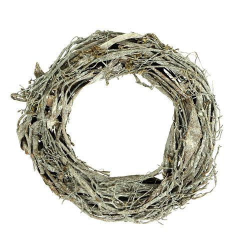 Deko-Kranz aus Zweigen Ø25cm geweißt 2St