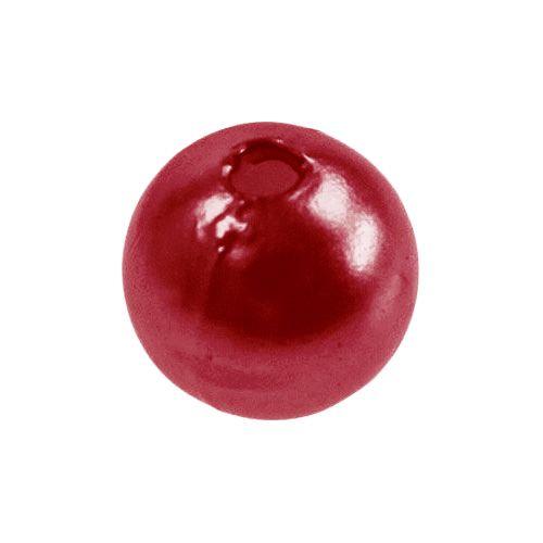 Deko Perlen Rot Ø8mm 250St