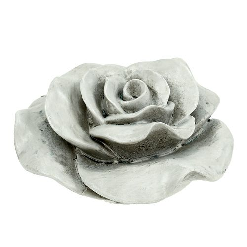 deko rose grau 13cm gro handel und lagerverkauf. Black Bedroom Furniture Sets. Home Design Ideas