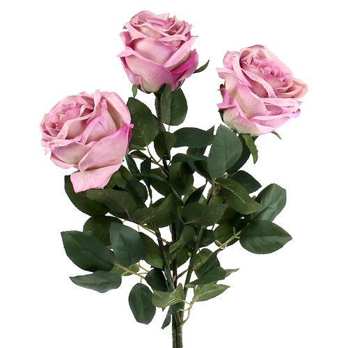 Deko-Rose gefüllt altrosa Ø10cm L65cm 3St
