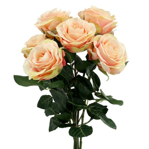 Deko Rose hellrosa Ø6cm L37cm 6St