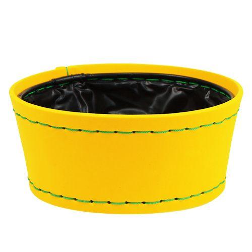 Deko Schale gelb Ø20cm H9cm