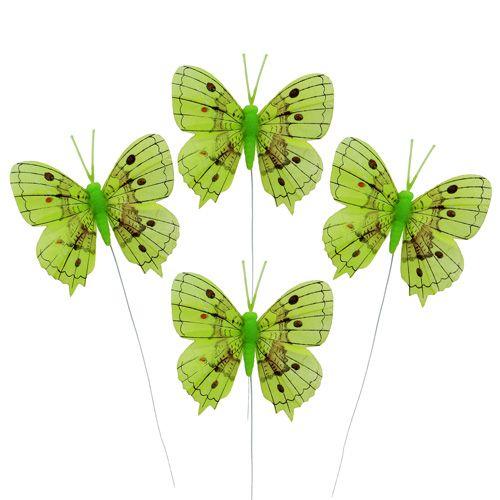 Deko Schmetterlinge Grün 8cm 6St