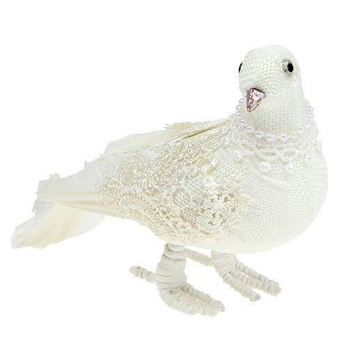 Deko Taube Weiß 18cm