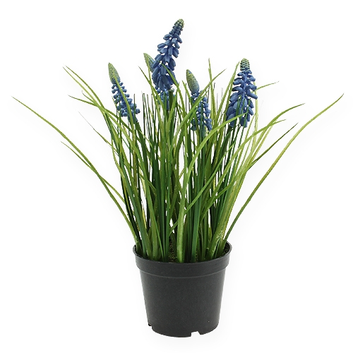 Hyazinthen künstlich im Topf Blau 26cm