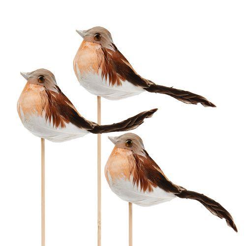 Deko Vögel am Stab 6cm L23cm 10St